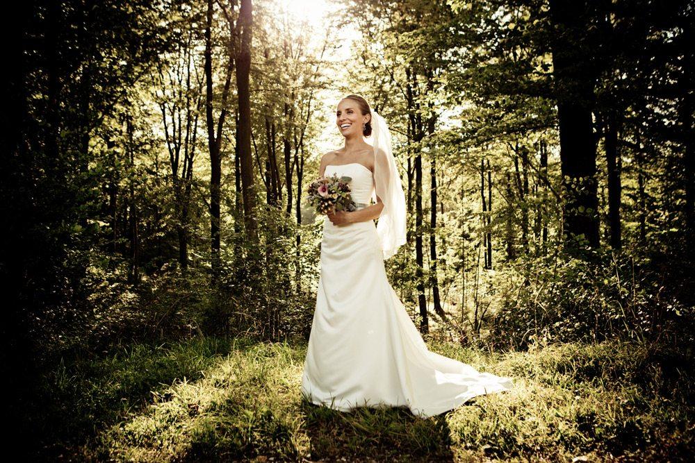 bryllupsbillede Hadsten