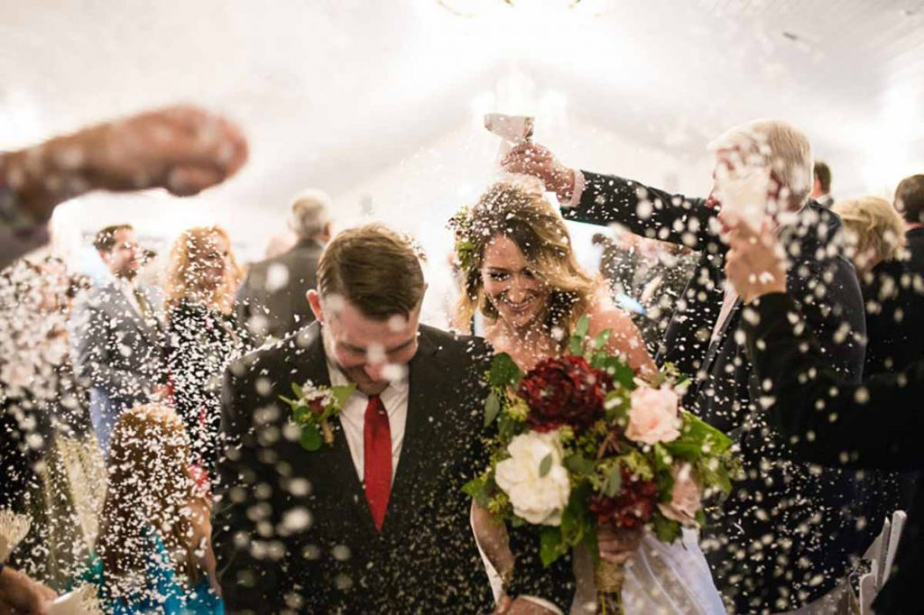 riskast ved bryllup