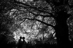 sort hvid foto bryllup