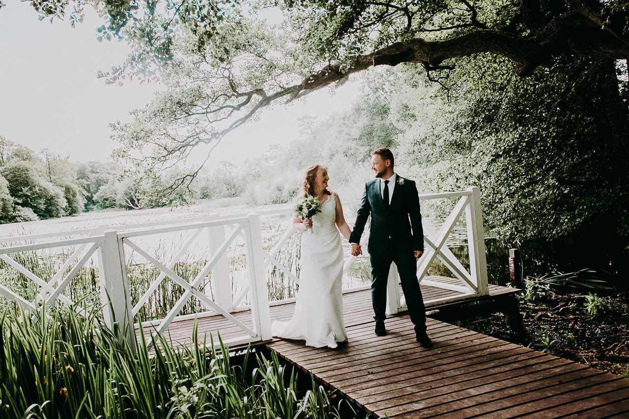 Hvad beskriver et spændende bryllupsbillede?